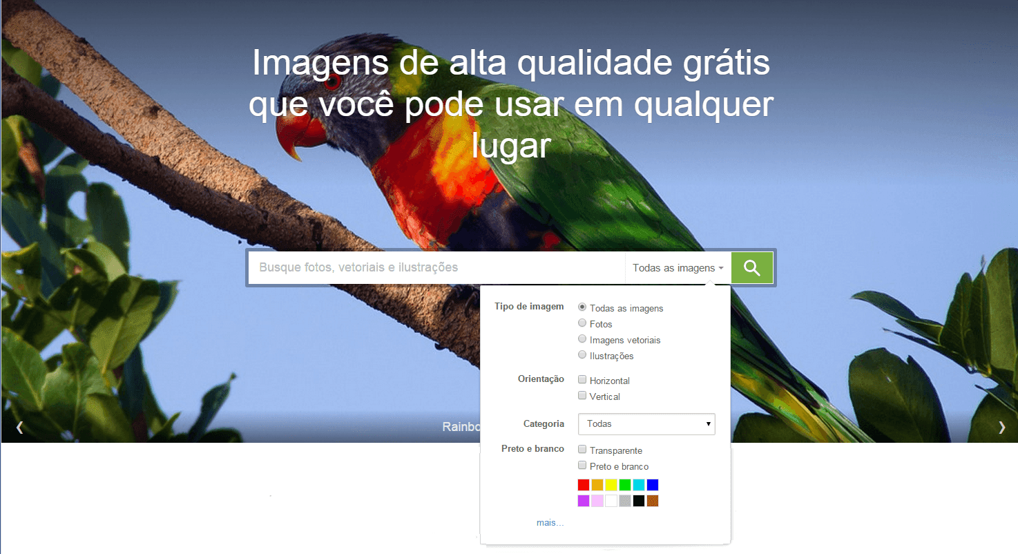 Pixabay - pesquisa personalizada