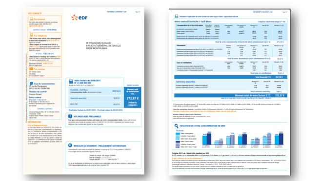 France la facture edf fait peau neuve avec sa nouvelle version plus claire - Facture edf comprendre ...