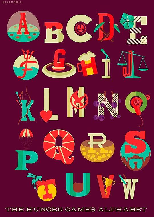 Letras ilustradas de Risa Rodil