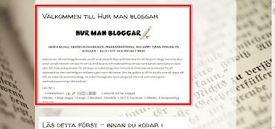 Skapa ett välkomstinlägg i Blogspot
