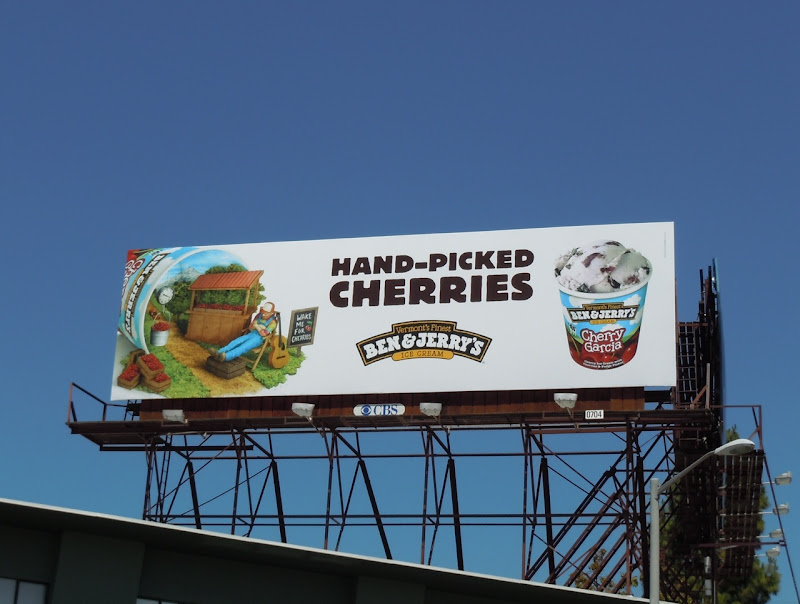 Ben and Jerry's Cherry Garcia ice-cream billboard