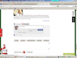 Cara Pasang atau Membuat Komentar Facebook dan Blog Berdampingan