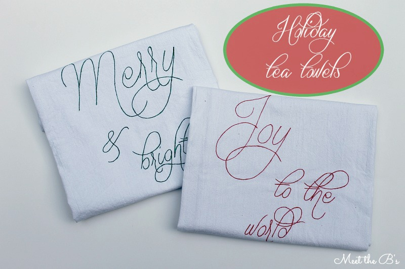 A Handmade Christmas- DIY holiday tea towels