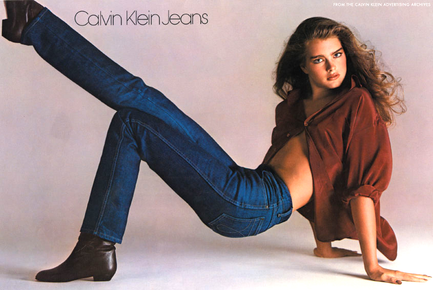 Brooke Shields photographed by Richard Avedon for Calvin Klein Jeans 1980 campaign