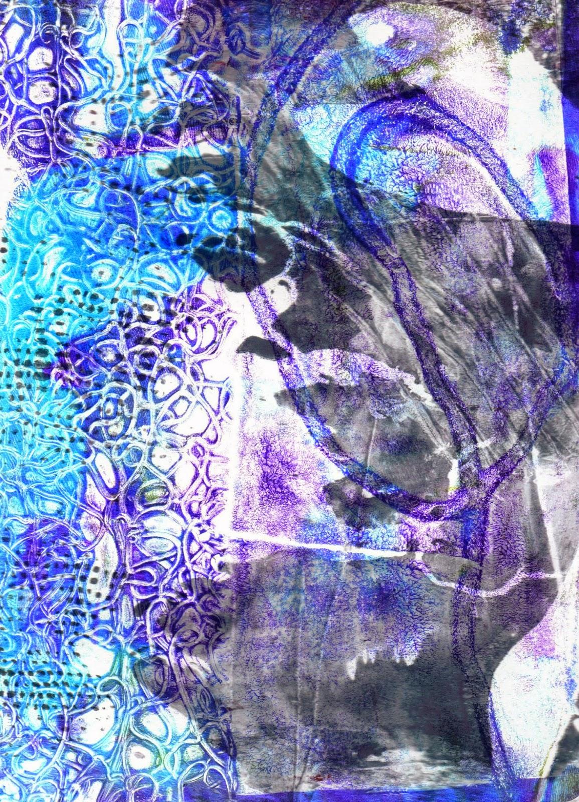 Blue Gelatin Print