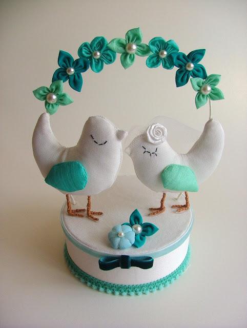 kuşlu pasta süsü