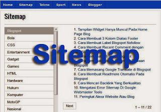 Sitemap-atau-Daftar-Isi-Blogspot