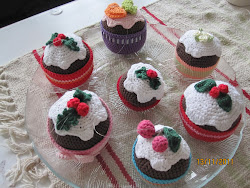 Cristmas Puddings - Christmas tree ornaments