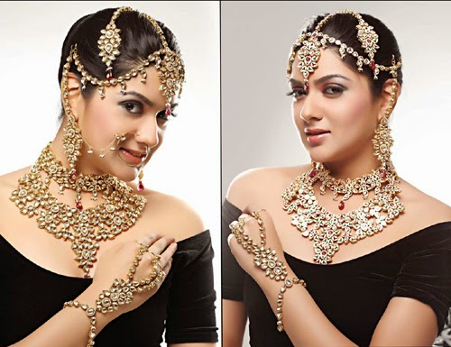 Bridal jewellery kundan sets