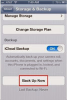 backup iphone 5s data with icloud