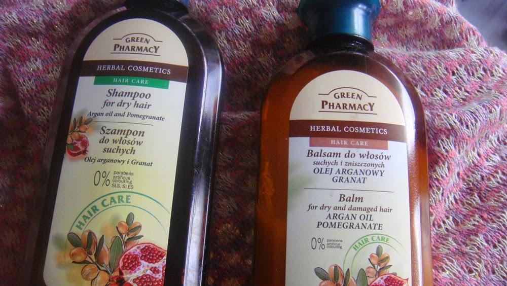 Green Pharmacy, szampon i odżywka do włosów suchych.