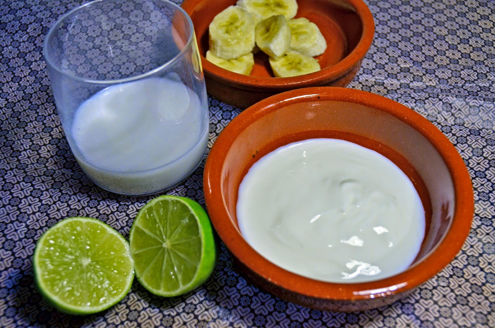 Just in Style Home made banana and yogurt face mask with lime
