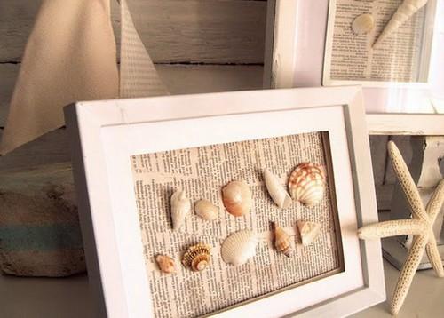 Cuadros marinos portal de manualidades - Manualidades decorar marcos para cuadros ...