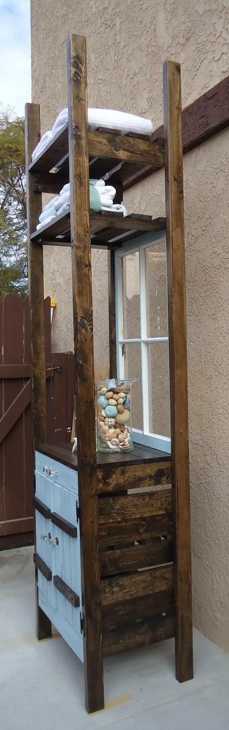 Bathroom Etagere in Tiffany Blue - SOLD