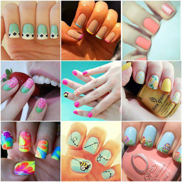 Stylish Nail Art Designs 2013 For Girls - Angelic Hugs