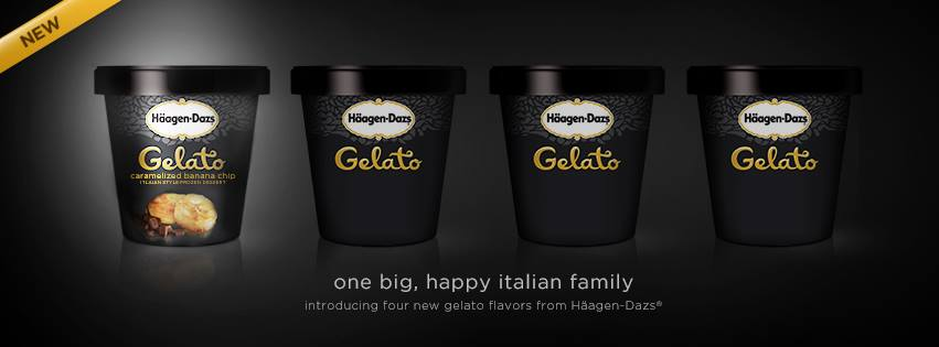 News haagen dazs four new gelato flavors brand eating for Gelati haagen dazs