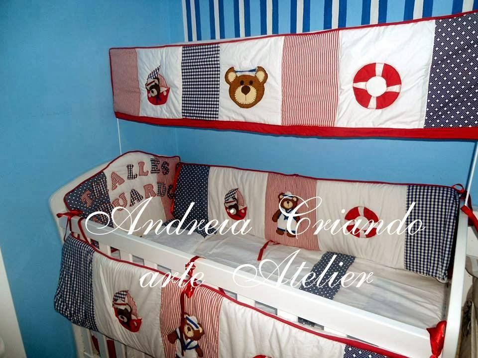 kit de berço de patchwork marinheiro