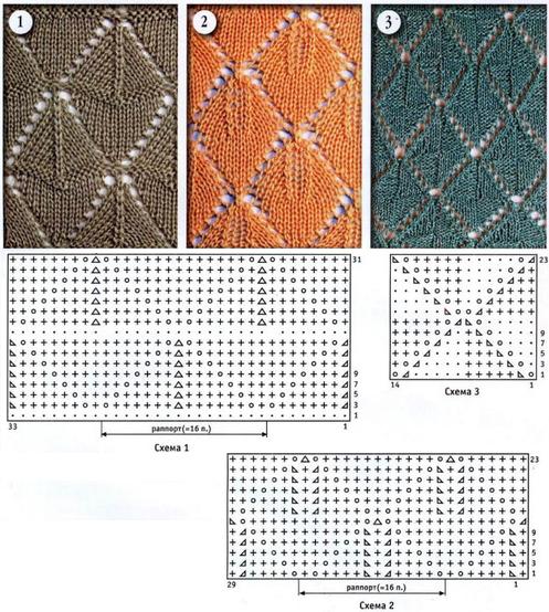 Crochet Pattern Types : Leaf type Knitting pattern 2
