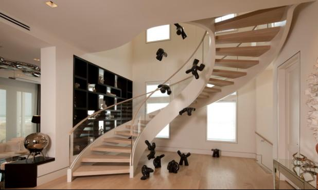 Fotos de escaleras escaleras para espacios pequenos for Escaleras modernas para espacios pequenos