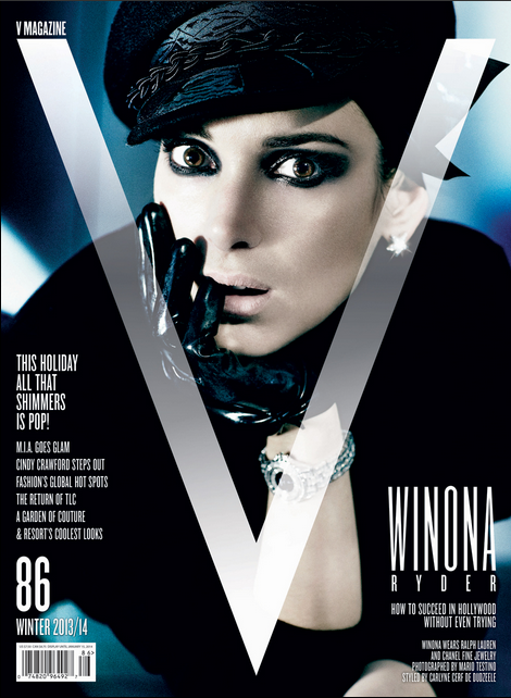 Winona Ryder by Mario Testino for V Magazine No.86 Cover