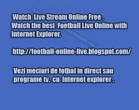 Pentru a vedea meciul deschide pagina cu INTERNET EXPLORER ! Plugin-ul TV Online NU functioneaza in Opera sau FireFox ! Daca ai Internet Explorer 7 sau 8 pentru prima oara trebuie sa dai click deasupra paginii pe pop-up si apoi run add-on on all websites