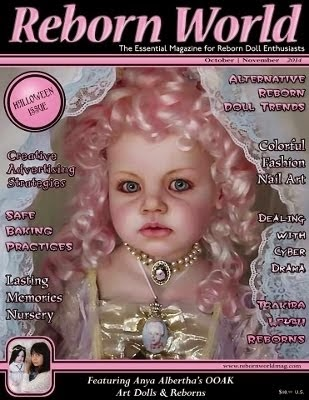 Reborn World magazine article about me and my dolls