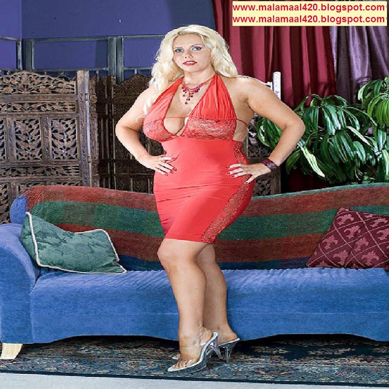 Karen Fisher 40DDD Busty Boobs In Red Bikini & Bra Semi