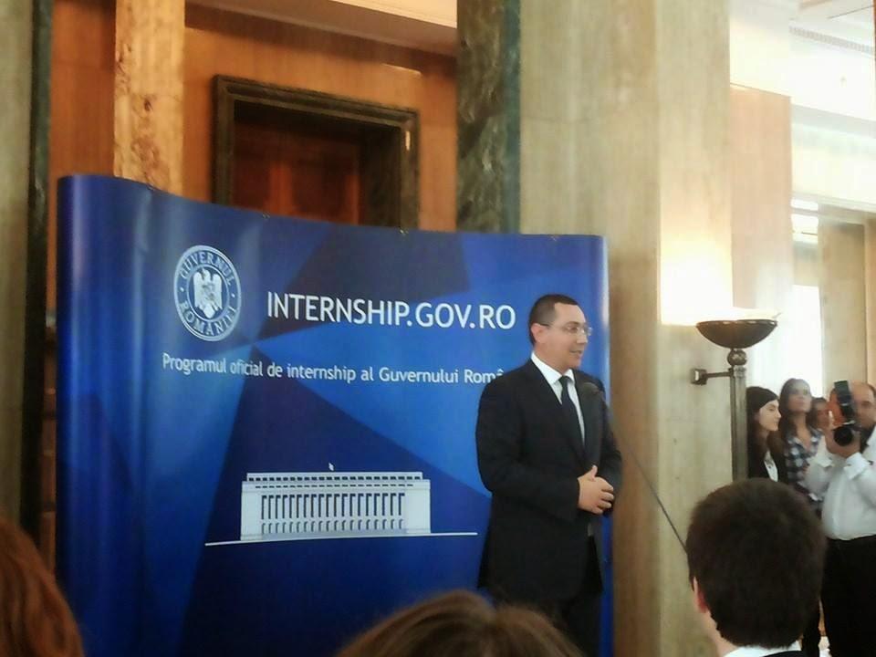 Alocuţiunea Primului Ministru Victor Ponta la deschiderea festivă a programului Intership 2014...