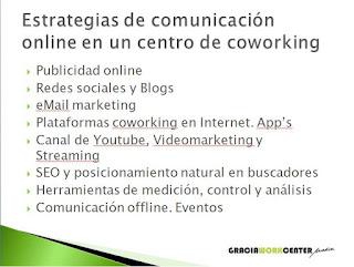taller - estrategias de comunicación online en un centro de coworking