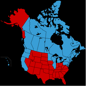 Look Again At That Map The Blue States Are All Together And The Red States Are All Together We Have Polarization With Strong Geographic Concentration A
