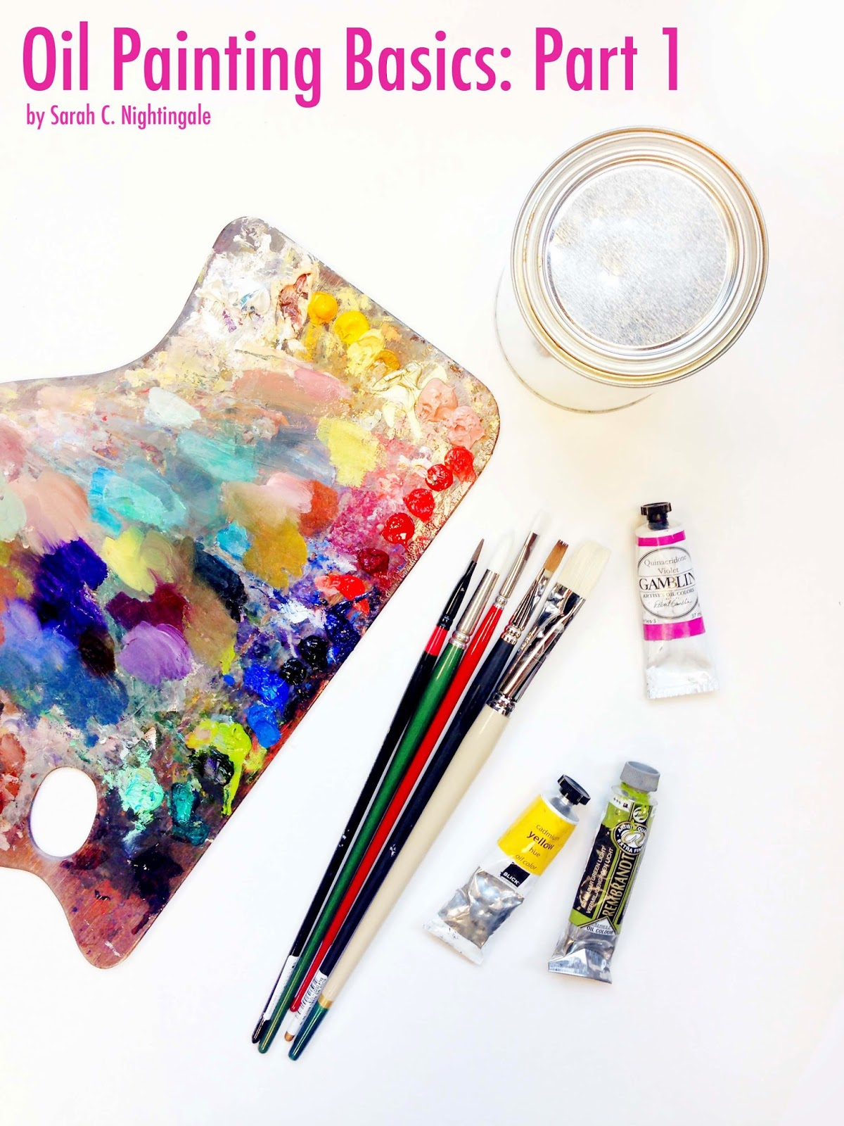 Oil painting basic part 1 supplies sarah croft for Materials for canvas painting