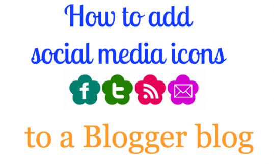 Social Media Icons for Blogger