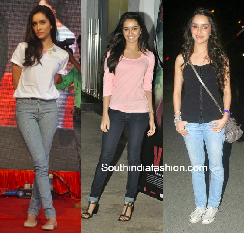 shraddha kapoor in jeans and tops