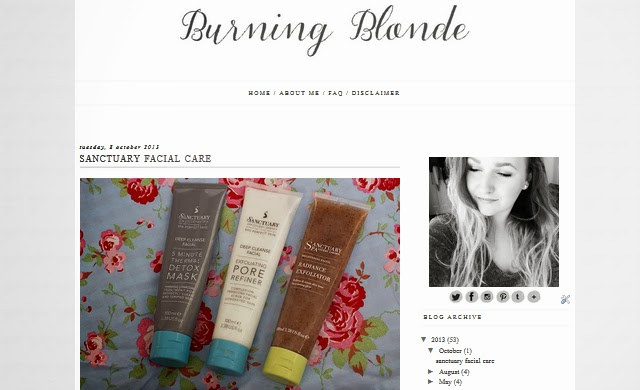 burningblonde back with new blog design