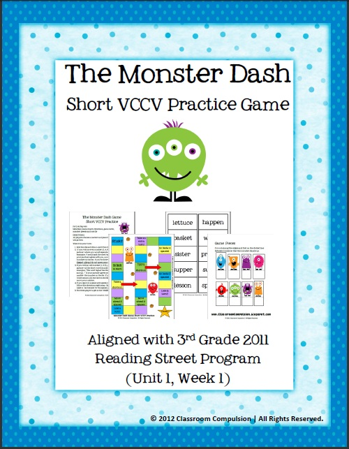 Classroom Freebies Too: Short VCCV Practice Game (Reading ...