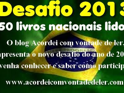 Encerramento Desafio 2013 - 50 livros nacionais lidos