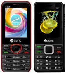 Groupon: Buy Zync Dual Sim Mobile 207 or X208 Rs. 767