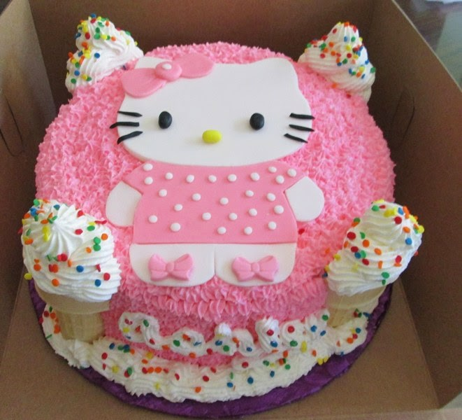 Ide kue ulang tahun tema hello kitty lucu banget