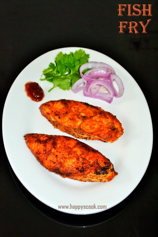 Fish fry recipe meen varuval happy 39 s cook for Fish fry ingredients