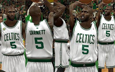 NBA 2K13 Boston Celtics Home Jersey Patch