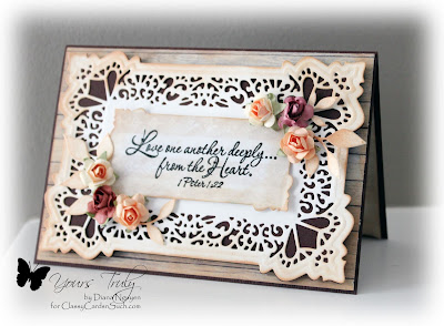 Diana Nguyen, Our Daily Bread Designs, Sue Wilson, Seville, Wedding, card, rustic