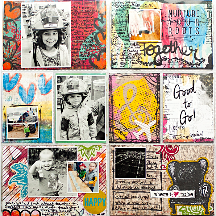 Heather Greenwood Designs | Week 40, October 2014 in my weekly pocket scrapbook album | #thelilypad #mixedmedia #hybridpocketscrapbooking