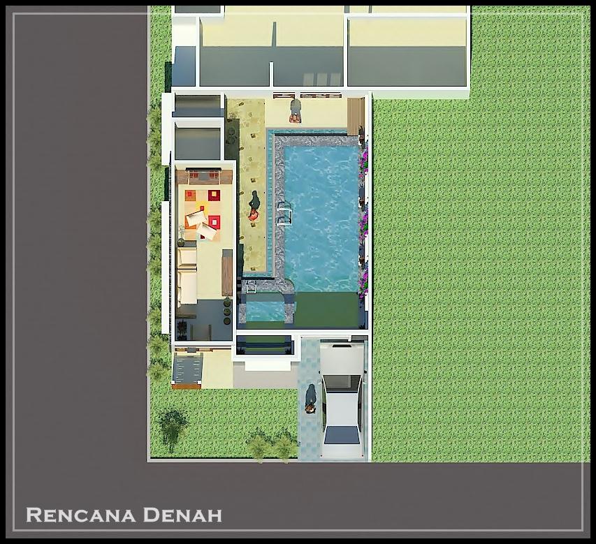 desain kolam renang milik bpk ali