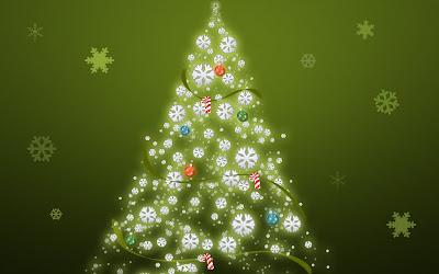 Arbol de Navidad y copos de nieve - Christmas Tree