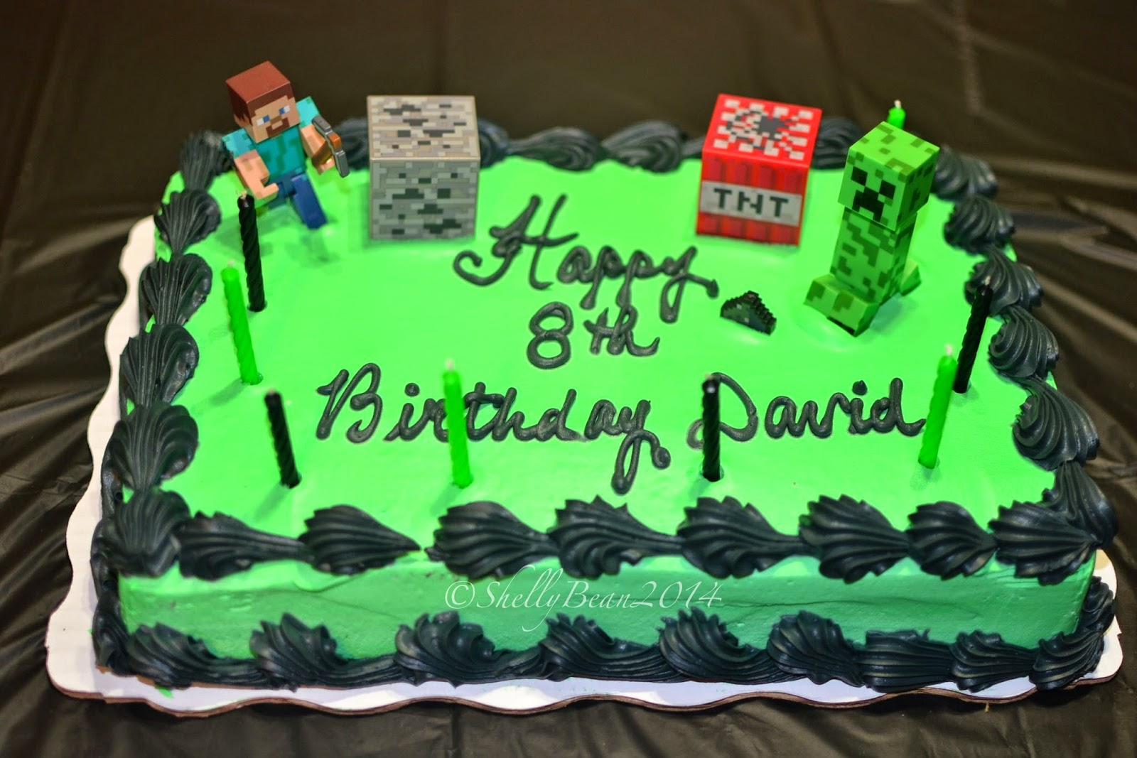 Kenny S Minecraft Cake Made By Wal Mart