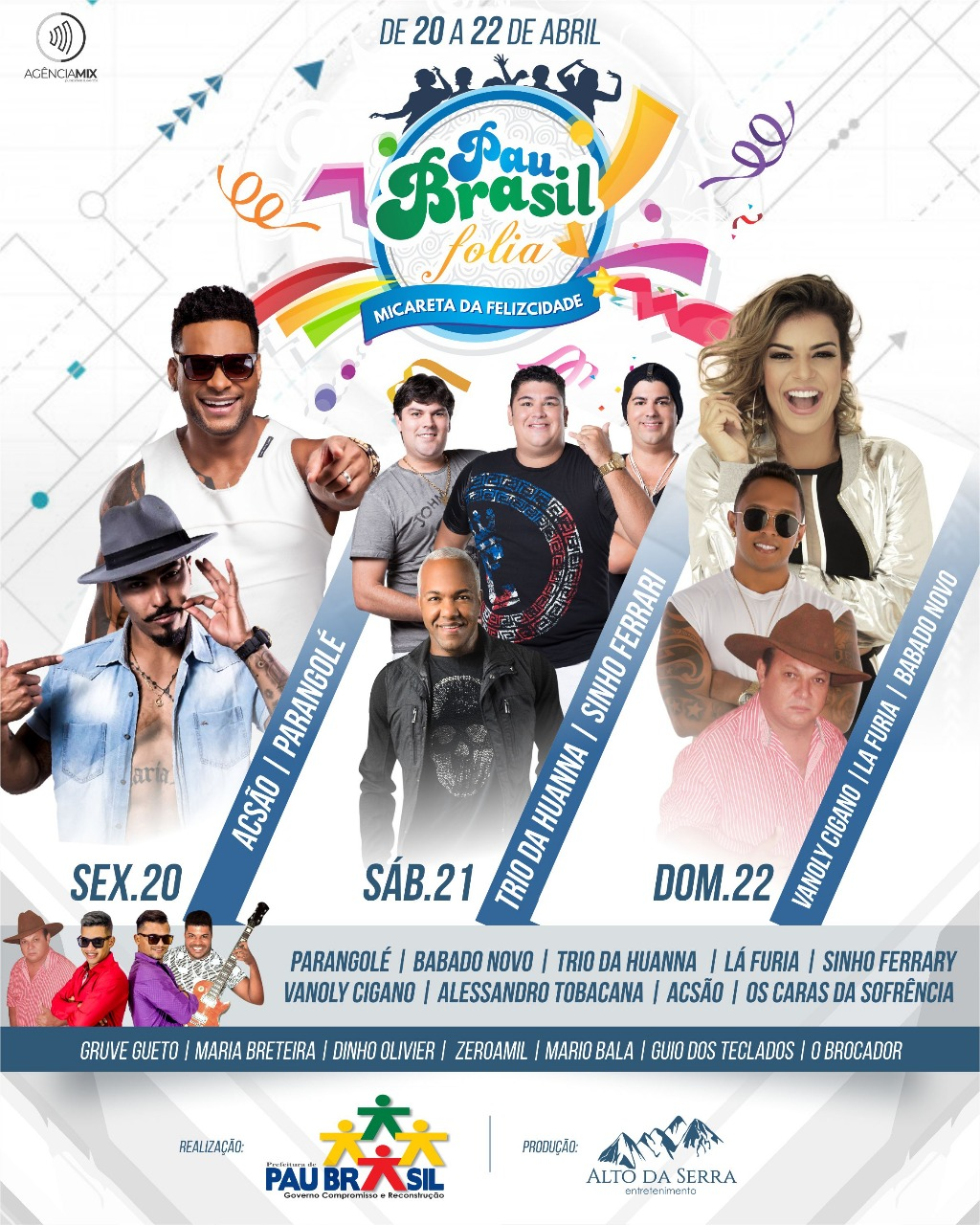 PAU BRASIL FOLIA - DE 20 A 22 ABRIL