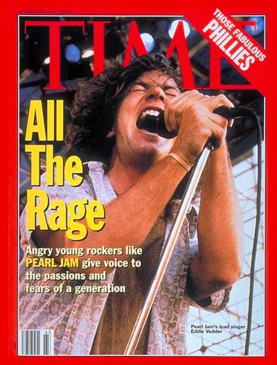 Time magazine eddie vedder pearl jam grunge phillies 1993