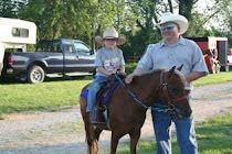 Matt & Daddy on Matt's pony