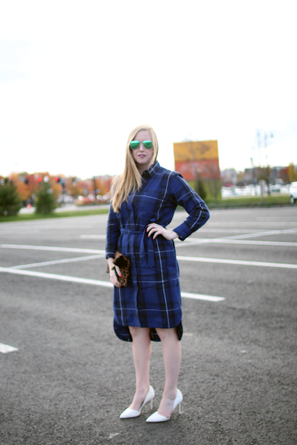 gap plaid shirt dress, shirtdress style, blue shirt dress, boston style, street style, assembly row, boston fashion blogger, boston style blogger