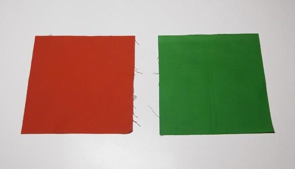 πορτοκαλί ύφασμα, πράσινο ύφασμα